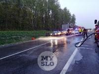 На трассе М2 в Туле «Ситроен» жестко «догнал» «Фольцваген», Фото: 5