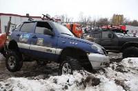 В Туле опрокинувшийся в кювет BMW вытаскивали три джипа, Фото: 22