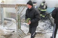 Пожар в жилом бараке, Щекино. 23 января 2014, Фото: 26