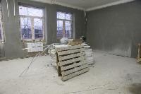 Дмитрий Миляев проверил, как идет ремонт вечерней школы на ул. Зорге, Фото: 3