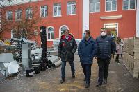 Дмитрий Миляев проверил, как идет ремонт вечерней школы на ул. Зорге, Фото: 26
