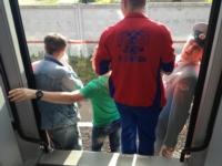 В Серпухове. Девятый вагон даже не доехал до перрона, Фото: 18