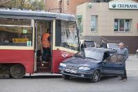 В Криволучье трамвай протаранил легковушку, Фото: 7