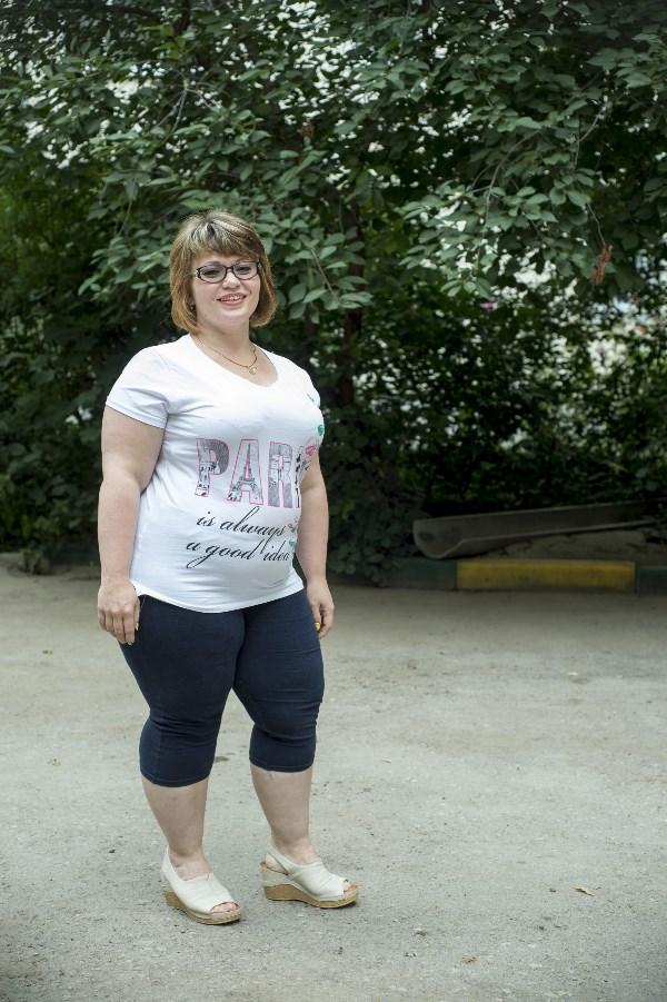 Ольга Калугина. 34 года, рост 145 см, вес 80 кг.