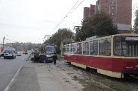 В Криволучье трамвай протаранил легковушку, Фото: 2