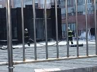 Загорелся недостроенный ТЦ на Красноармейском проспекте, Фото: 9
