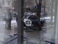 В Туле водитель Volvo снес остановку и протаранил дерево , Фото: 6