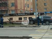 В Туле внедорожник BMW повалил столб ЛЭП, Фото: 2