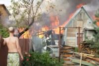 На улице Патронной загорелся частный дом, Фото: 1