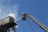 Пожар на хлебоприемном предприятии в Плавске., Фото: 8