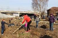 Генеральную уборку в Туле на Пролетарской набережной провели работники КБП, Фото: 17