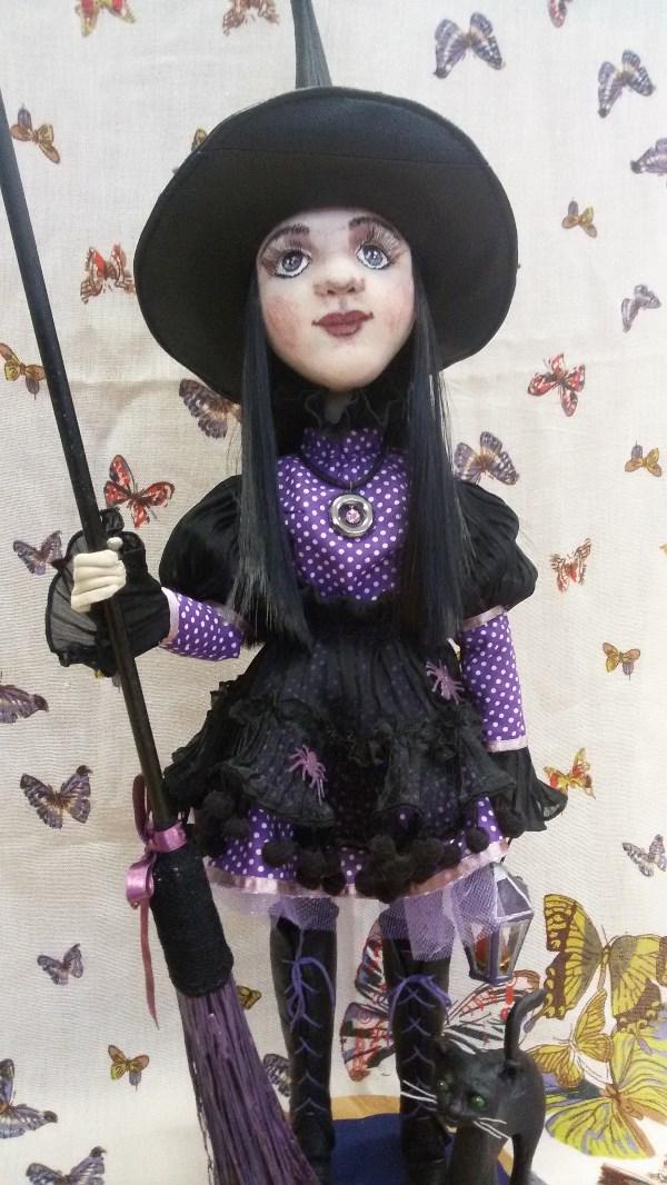 Текстильная кукла Ведьмочка