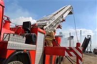 Пожар на хлебоприемном предприятии в Плавске., Фото: 3