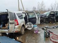 В страшном ДТП под Тулой погибли два человека, Фото: 6