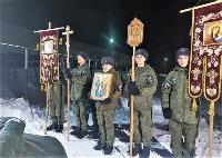 Тульские военнослужащие ВДВ окунулись в прорубь на Крещение, Фото: 1
