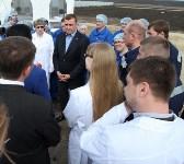 Алексей Дюмин ответил на вопросы сотрудников ООО «Воловский бройлер», Фото: 8