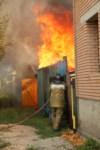 На улице Патронной загорелся частный дом, Фото: 4