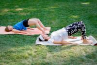 В Центральном парке прошла тренировка по пилатесу, Фото: 10