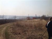В Ленинском районе из-за горящей травы сгорела дача, Фото: 6