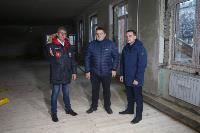 Дмитрий Миляев проверил, как идет ремонт вечерней школы на ул. Зорге, Фото: 5