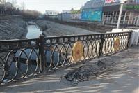 Привокзальный мост, ямы на тротуатре, Фото: 5