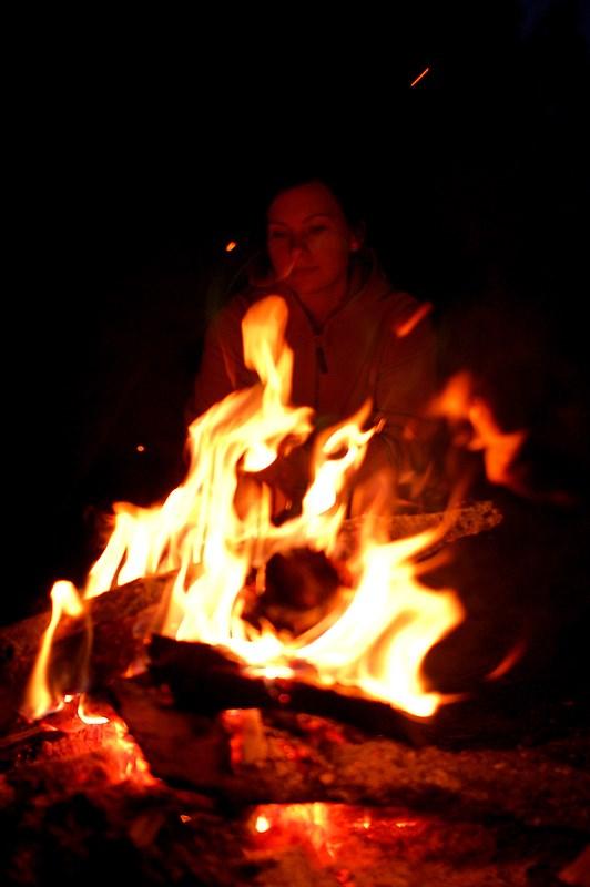 Любуюсь танцем пламени