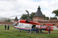 В кремле приземлился вертолет, который установит шпиль колокольни, Фото: 10
