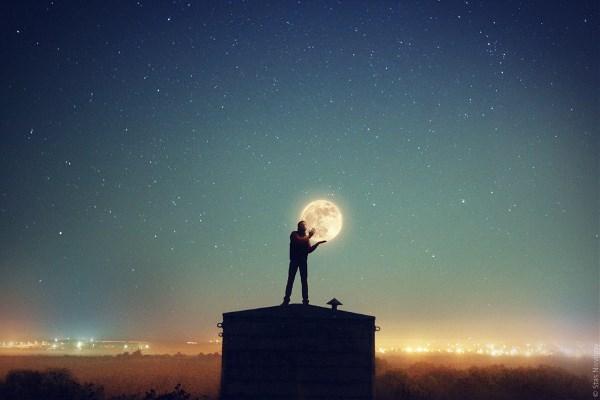Мой автопортрет с луной :)