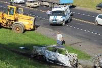 В жутком ДТП на М2 под Тулой сгорели три авто: двое погибли, Фото: 1