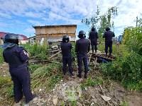 В Плеханово вновь сносят незаконные дома цыган, Фото: 5