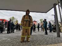 Тульские пожарные провели соревнования по бегу на 22-этаж, Фото: 43