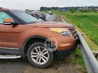В ДТП на трассе М-2 в Туле у внедорожника оторвало колесо, Фото: 6