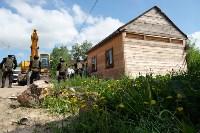 В Плеханово начали сносить дома в цыганском таборе, Фото: 125