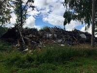Горит строительный мусор в Узловском районе, Фото: 3
