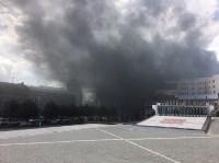 Загорелся недостроенный ТЦ на Красноармейском проспекте, Фото: 5