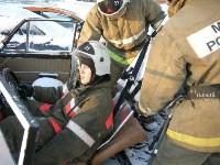 В Щекино спасатели ликвидировали последствия условного ДТП, Фото: 5