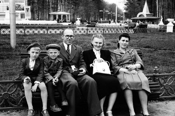 В Центральном парке. 1955 год.