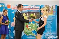 Дмитрий Медведев вручает медали выпускникам школ города Алексина, Фото: 13