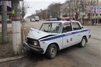 В Туле машина ДПС протаранила столб, Фото: 10