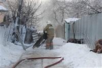 Пожар в жилом бараке, Щекино. 23 января 2014, Фото: 7