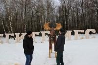 Деревянному лосю восстановили рога, Фото: 2