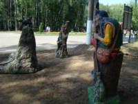 В Центральном парке поселились Красная шапочка, баба Яга и кот Леопольд, Фото: 5