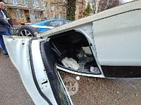 В центре Тулы машина спецсвязи попала в ДТП с «перевертышем», Фото: 6