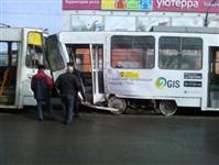 ДТП с участием двух трамваев. , Фото: 2