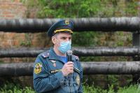 В Туле сотрудники МЧС эвакуировали госпитали госпиталь для больных коронавирусом, Фото: 13