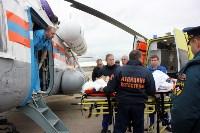 Транспортировка пострадавшего санитарным рейсом МЧС, Фото: 5
