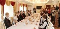 Владимир Груздев встретился со школьниками Тульской области, Фото: 4