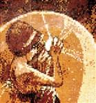 Еще одна мозаика, во всю высоту стены, украшает спальню. Она выложена на перегородке, маскирующей вход в гардеробную , Фото: 15