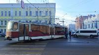 На улице Советской в Туле трамвай сошел с рельсов, Фото: 2