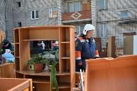 У дома, поврежденного взрывом в Ясногорске, демонтировали опасный угол стены, Фото: 7